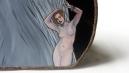 Sabbath Thy Pretty – oil on hat box – 400 x 346mm