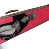oil on violin case – 240 x 803mm