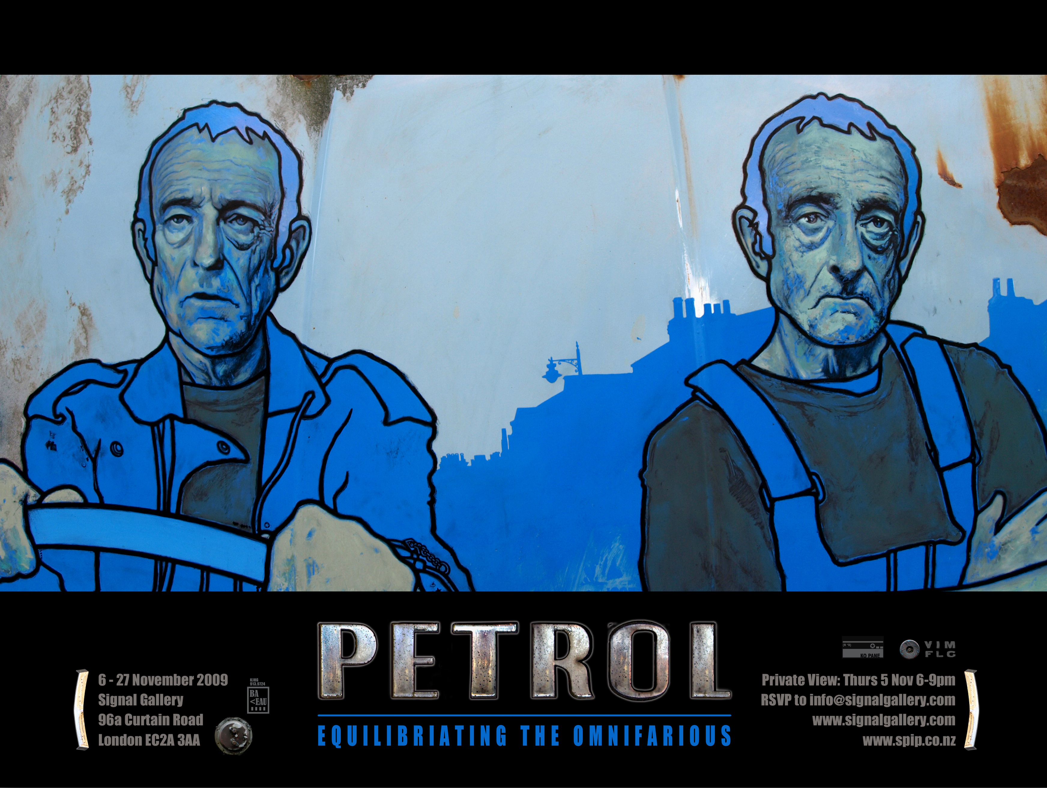 PETROL - EQUILIBRIATING THE OMNIFARIOUS - solo exhibition by David Le Fleming 2009