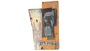 Captain 01 it's fickle – oil on wood