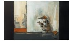 Indulgent George – oil on canvas