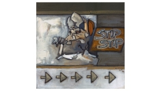 Stip Stip - looking inwards through the back of my cup – oil on canvas