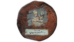More vernacular – oil on metal drum lid