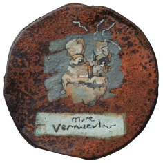More vernacular – oil on metal drum lid