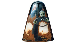 Biggles - oil & enamel on bonnet - 1040 x 1215mm