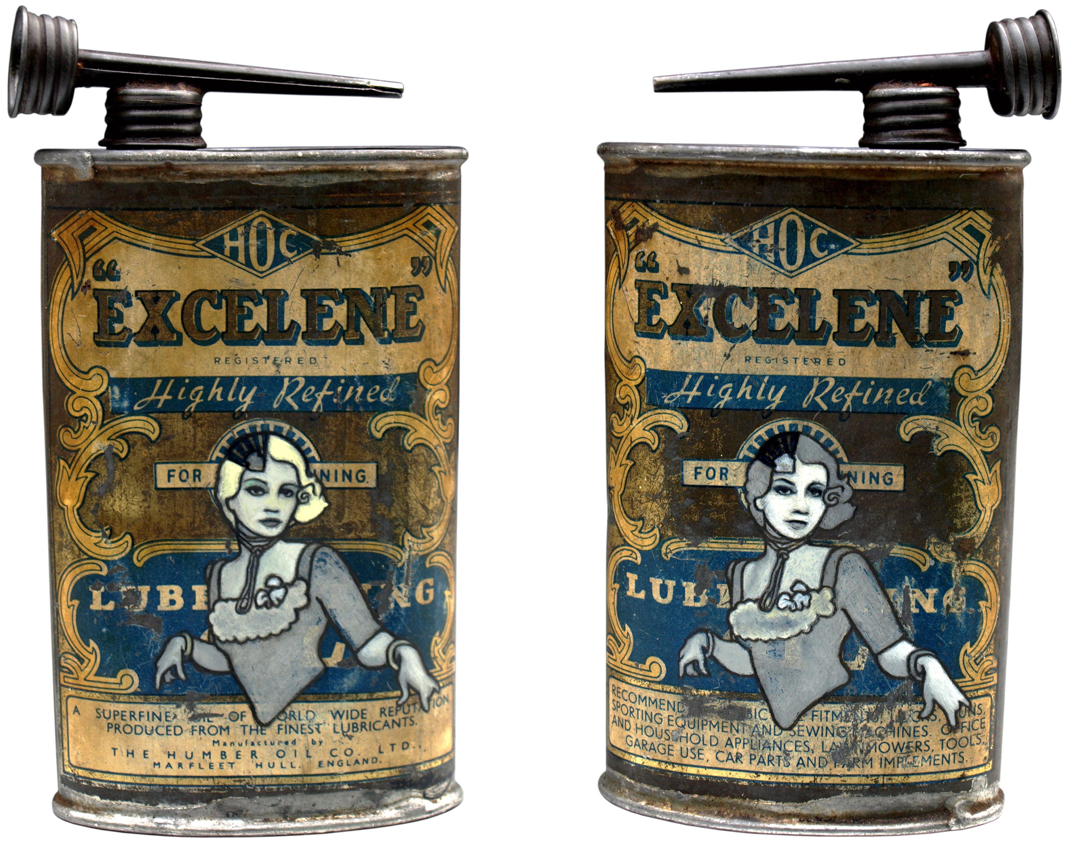Excelene (2008) oil and eggshell on tin can by kiwi painter Dave Le Fleming