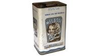 Melasse - oil & eggshell on tin can - 256 x 145 x 116mm