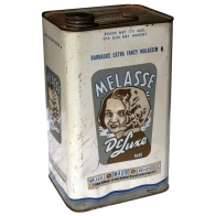 Melasse - oil & eggshell on tin can - 256 x 145 x 116mm