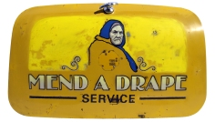 Mend a Drape - oil, enamel and eggshell on car boot - 995 x 563mm