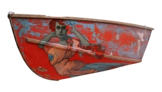 Mabel – oil on wooden boat – 172 x 65cm
