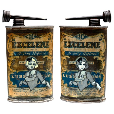 Excelene (2008) – oil & eggshell on tin can – 147 x 80 x 35mm