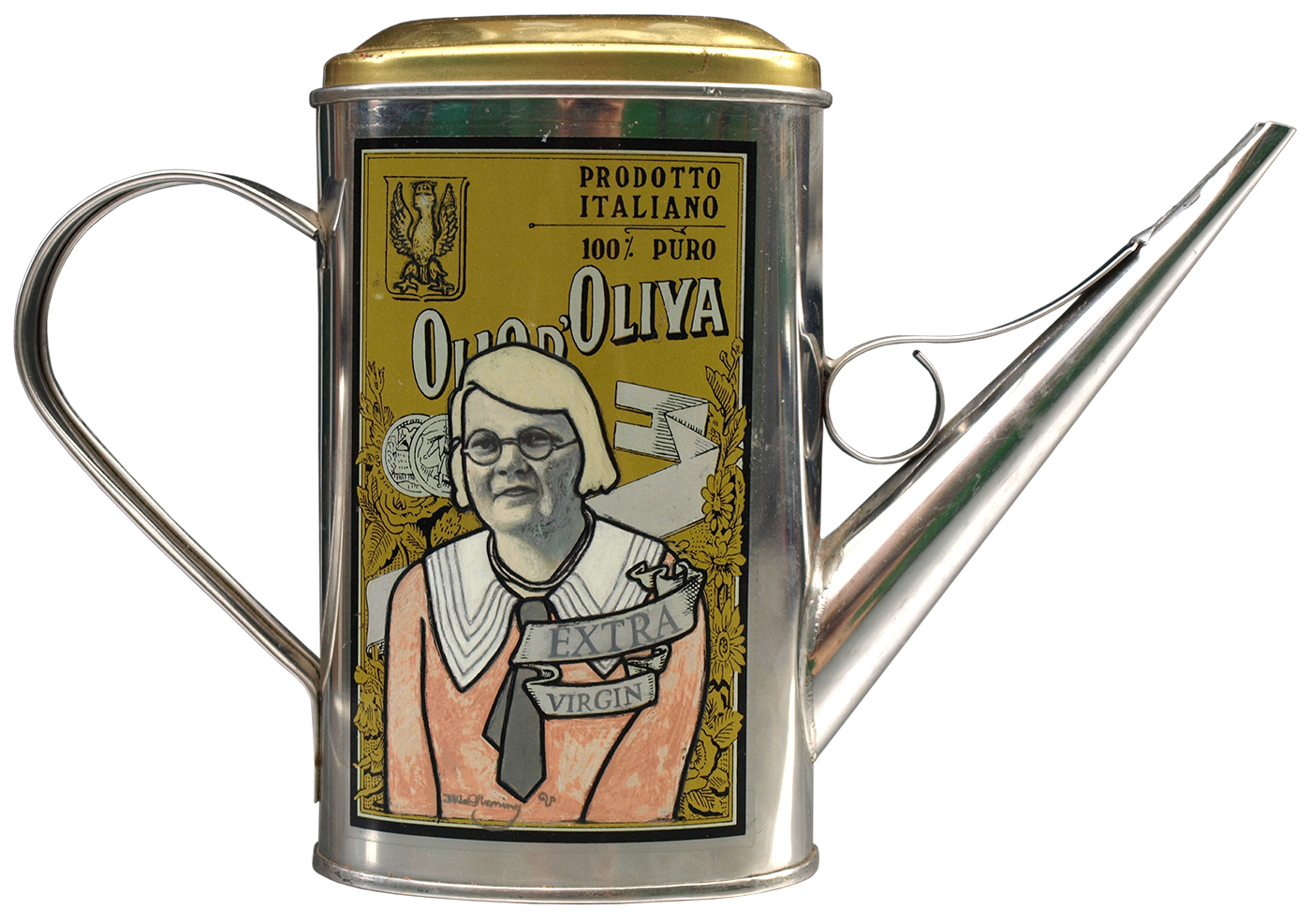 Extra Virgin (2008) oil on tin can by David Le Fleming